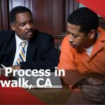 Criminal with lawyer in court Norwalk, CA