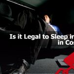 Businessman sleeping in the car in Costa Mesa