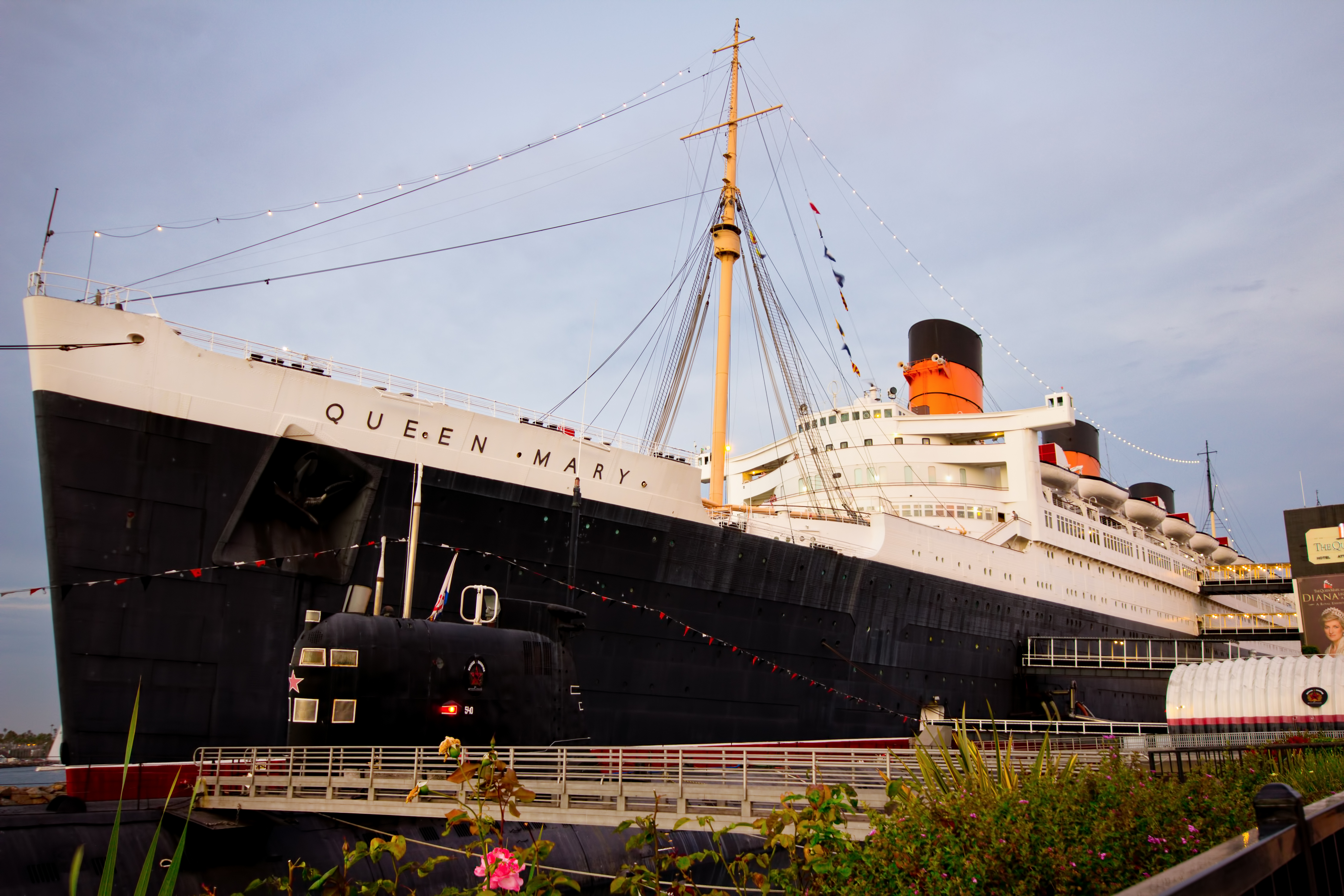 Historic Queen Mary in Long Beach