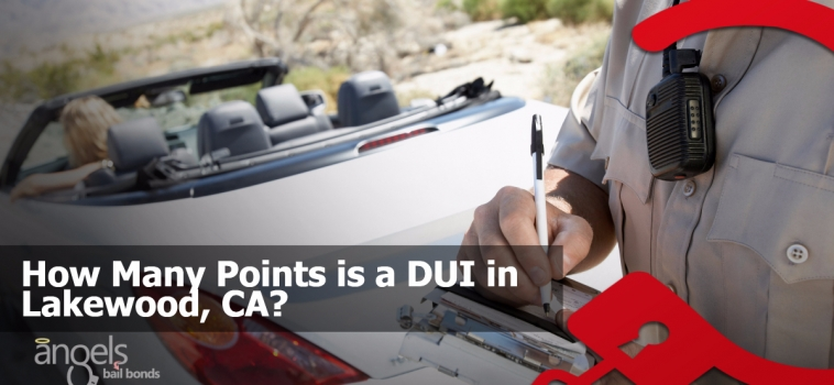 How many points is a DUI in Lakewood, CA?